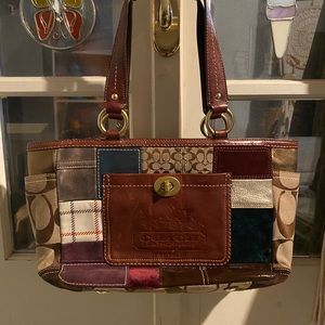 Patchwork coach purse